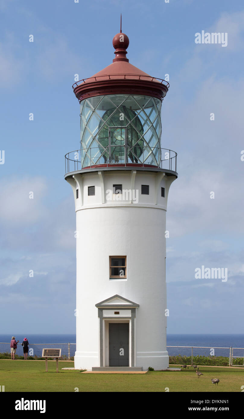 Daniel K. Inouye Kilauea Point Lighthouse - Stock Image