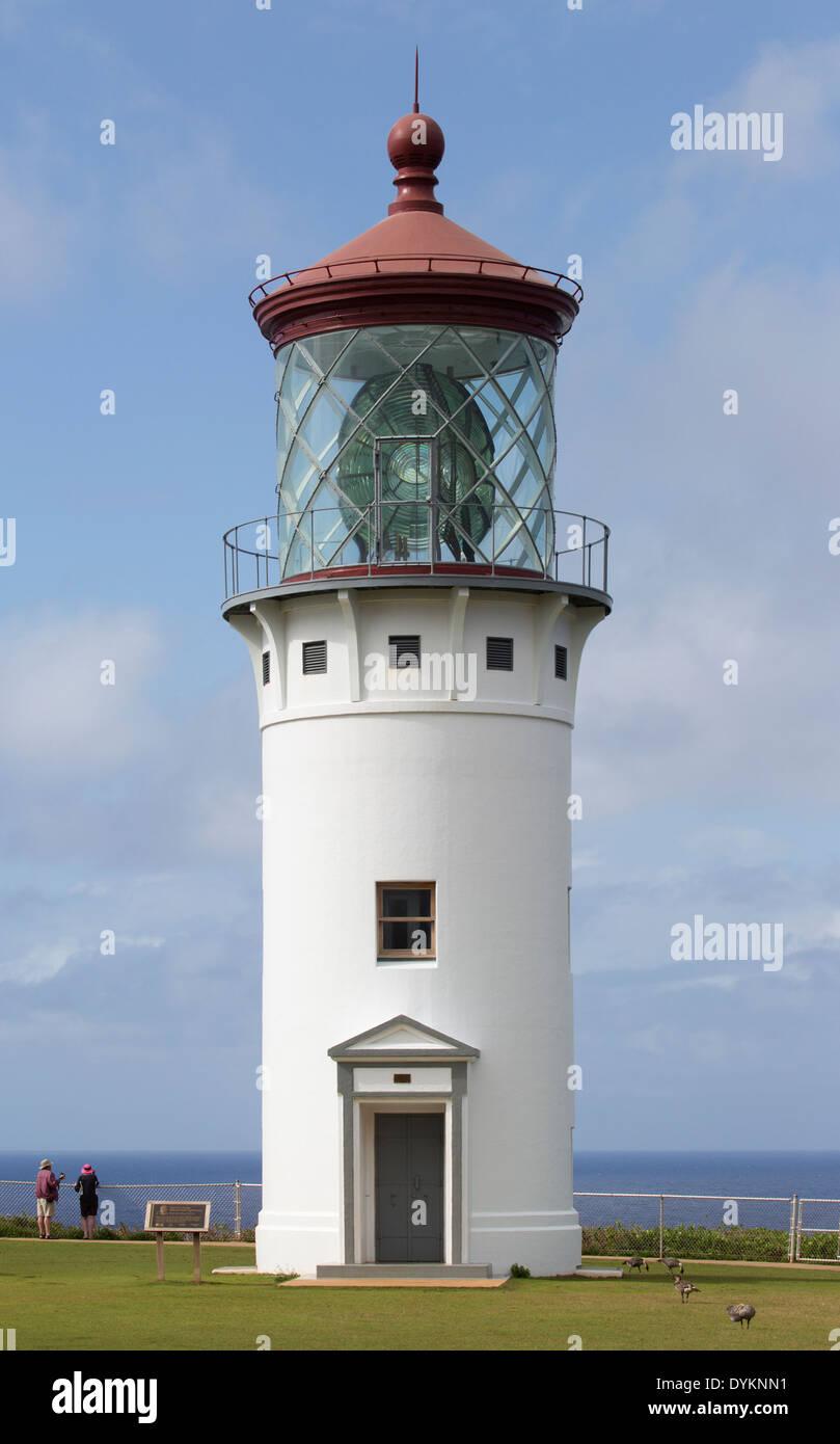 Daniel K. Inouye Kilauea Point Lighthouse - Stock Image