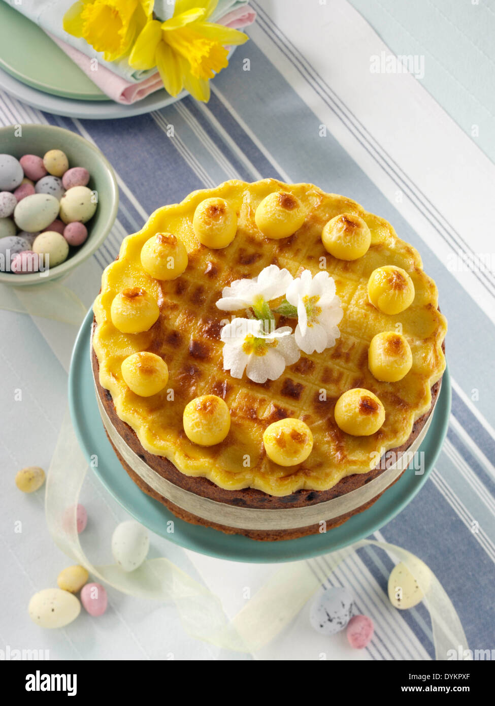 Simnel cake Stock Photo