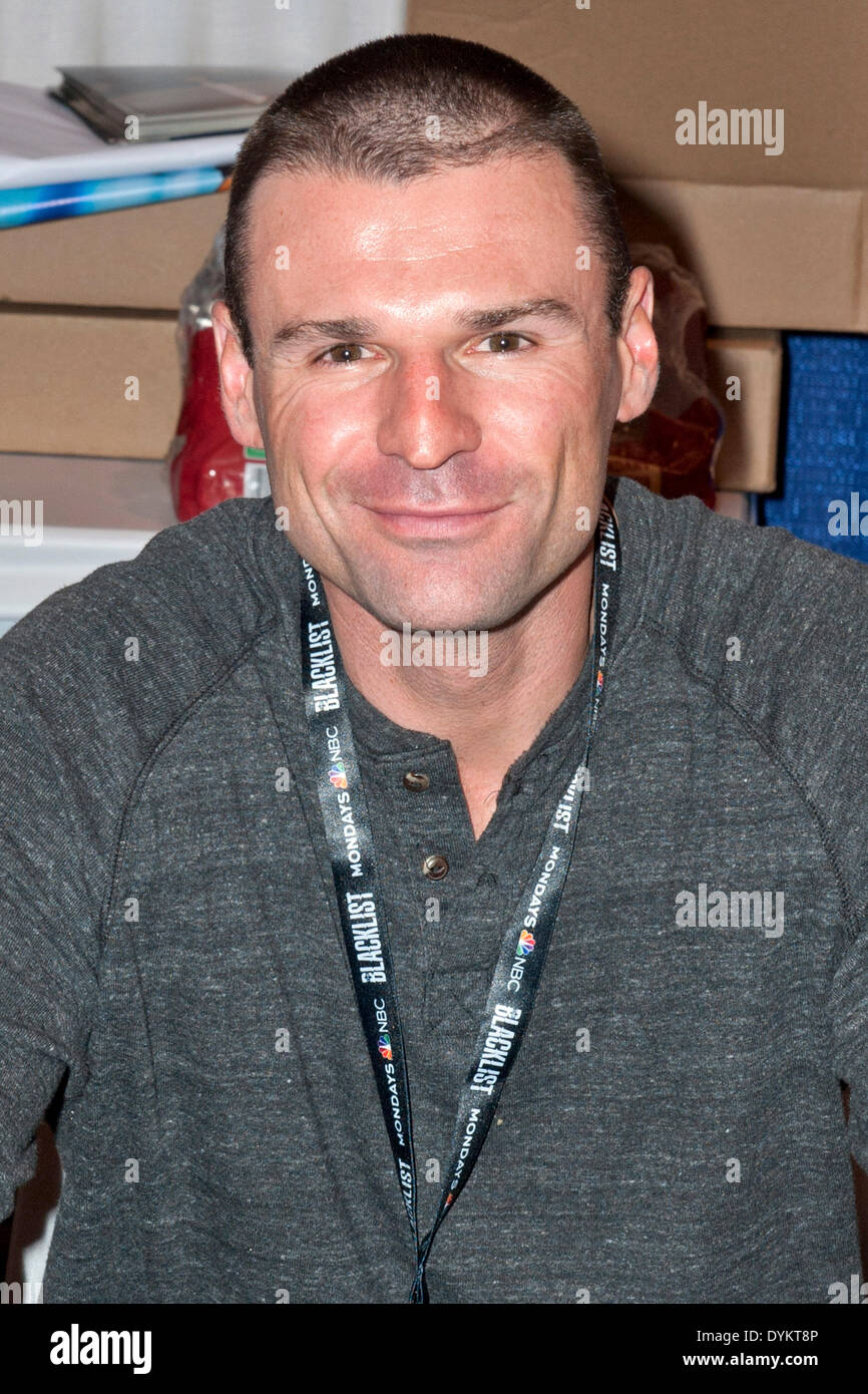Stuntman and actor Stephen Dunlevy attends the WonderCon 2014 at the Anaheim Convention Center, in Los Angeles. On April 20, 2014. /picture alliance - Stock Image