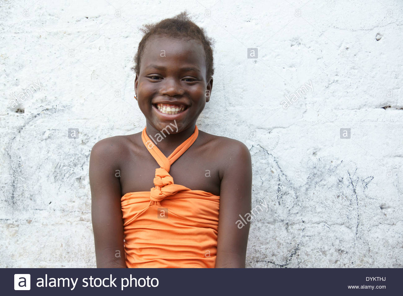 Child of Angolan refugee in Kinshasa, Democratic Republic of Congo - Stock Image