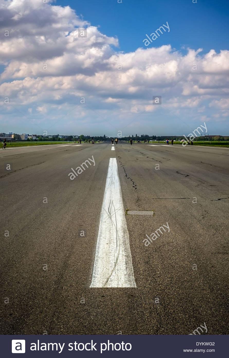 Airfield Tempelhof Berlin, Germany - Stock Image