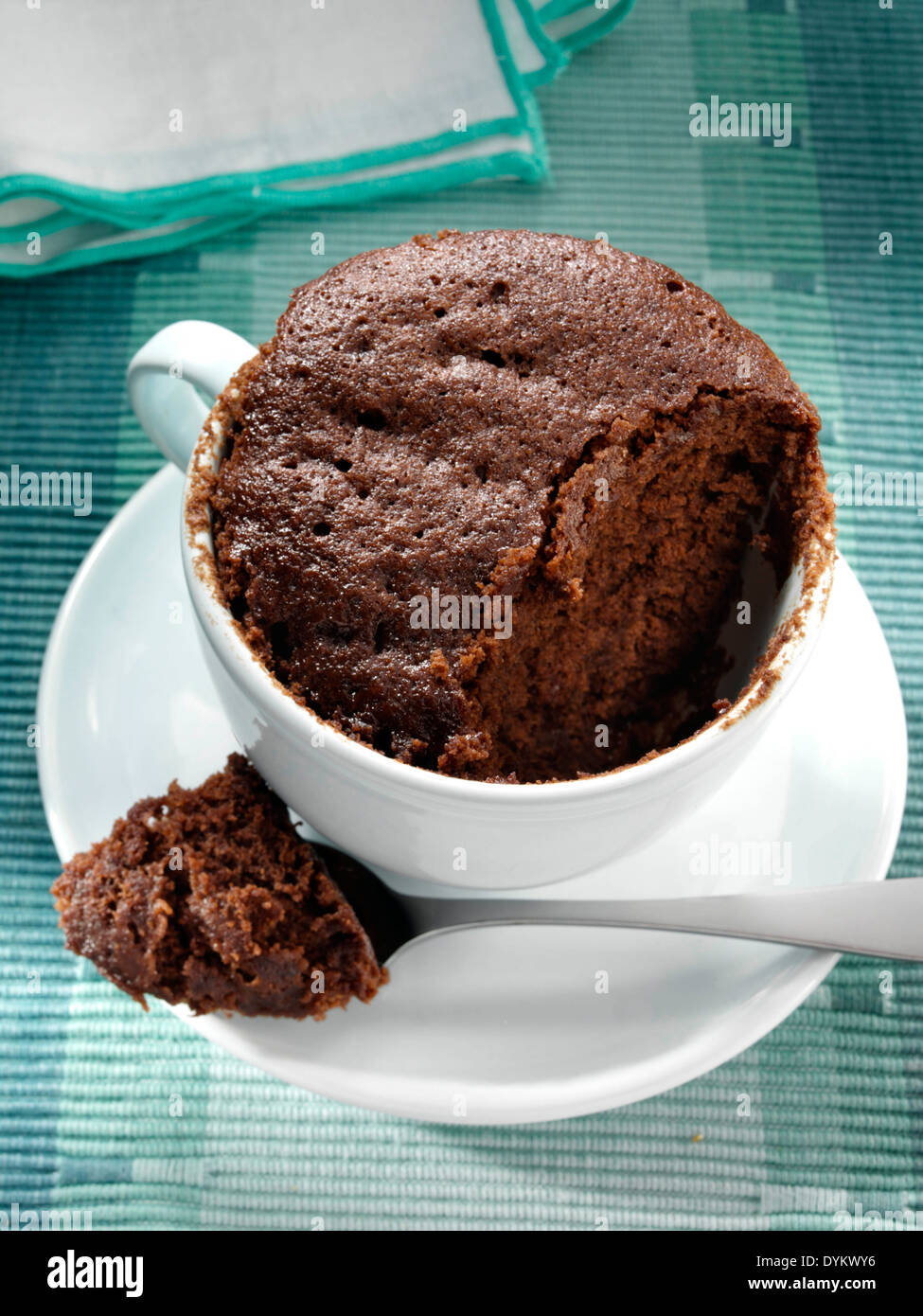 Squidgy chocolate cake - Stock Image