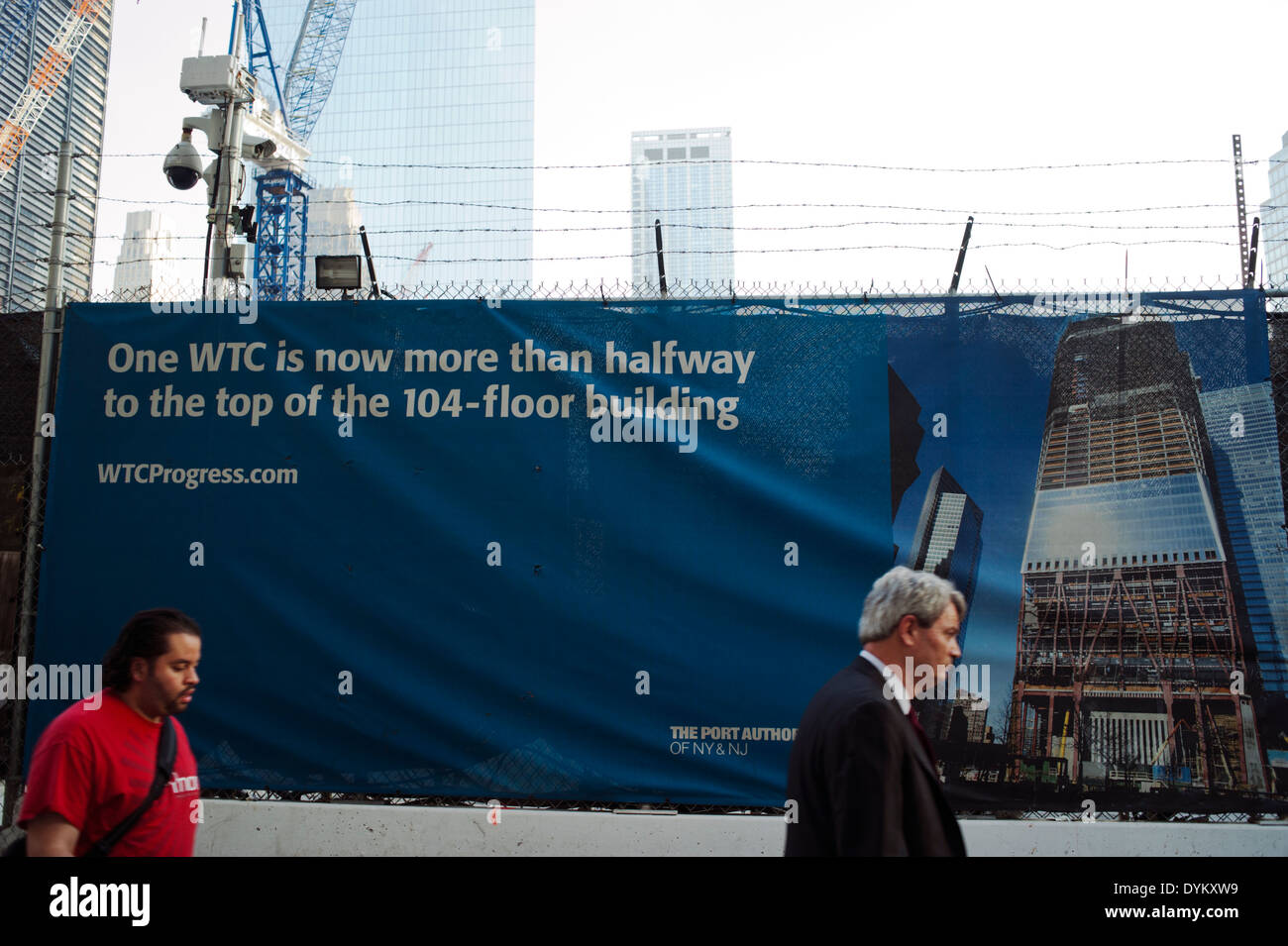 Construction on the new 'One World Trade Center' 1 WTC in lower Manhattan, New York City - Stock Image