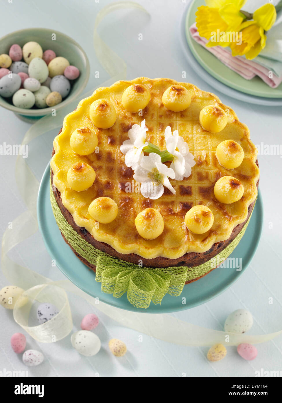 Simnel cake for Easter - Stock Image