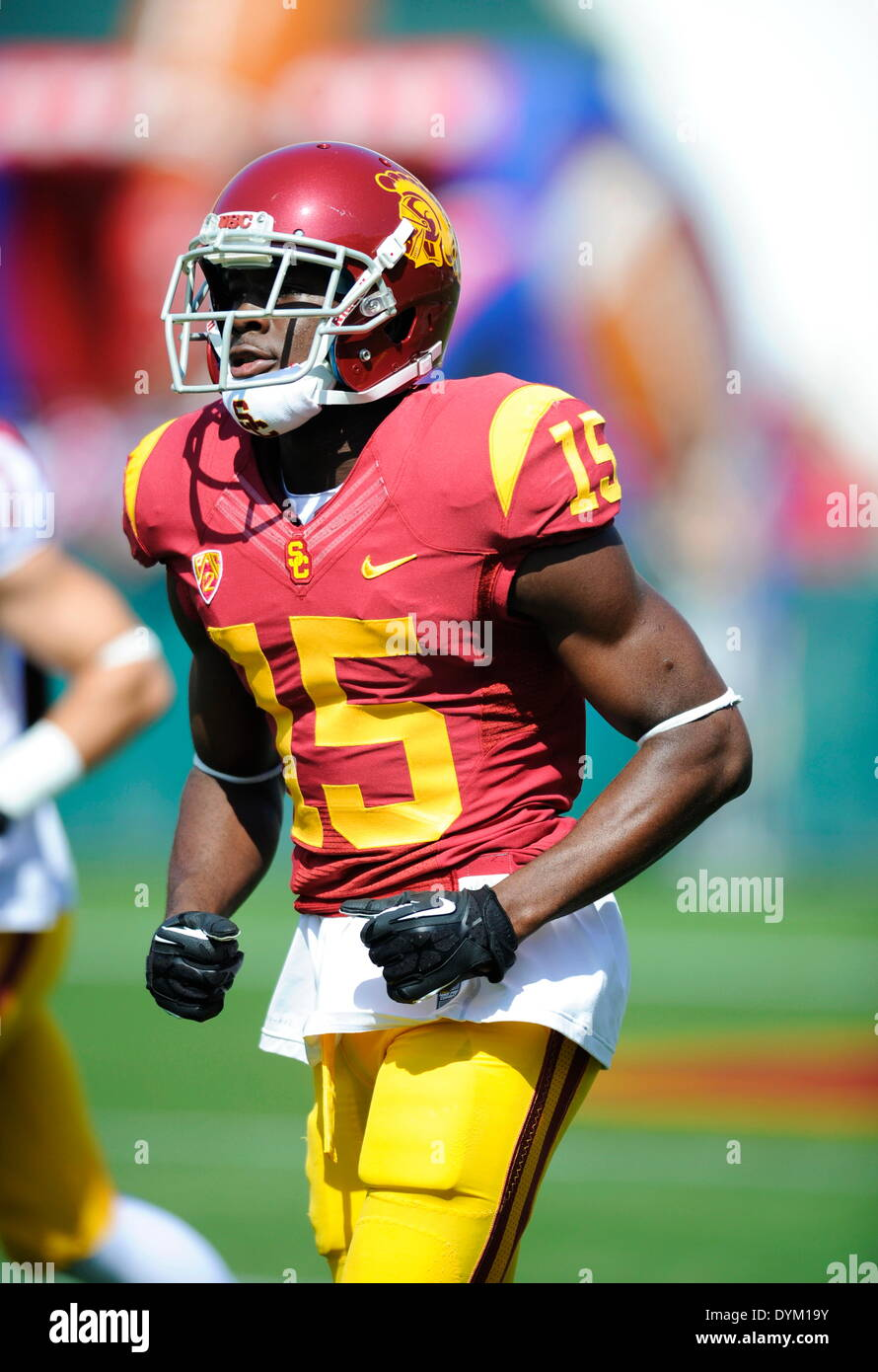 the latest 3ce54 6942e April 19 2014. Nelson Agholor of the USC Trojans in action ...