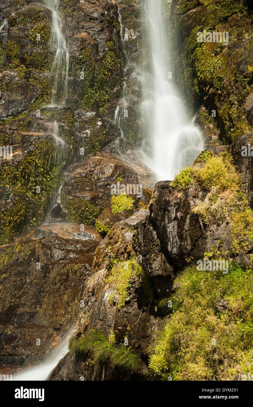 Photeng Waterfall, close to Katmandhu in Nepal - Stock Image