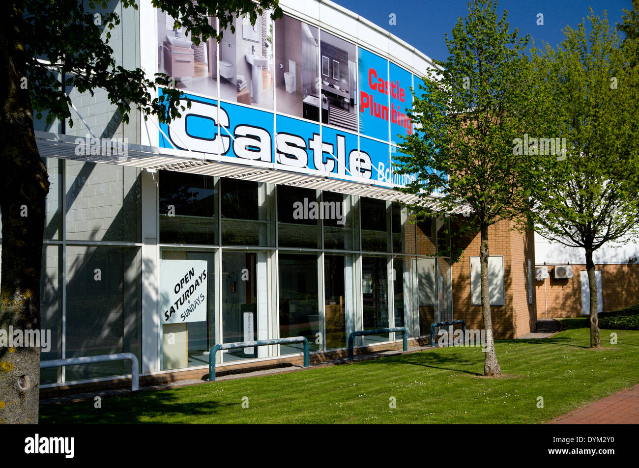 Castle Plumbing showrooms, Ocean Way, Cardiff, Wales, UK. - Stock Image