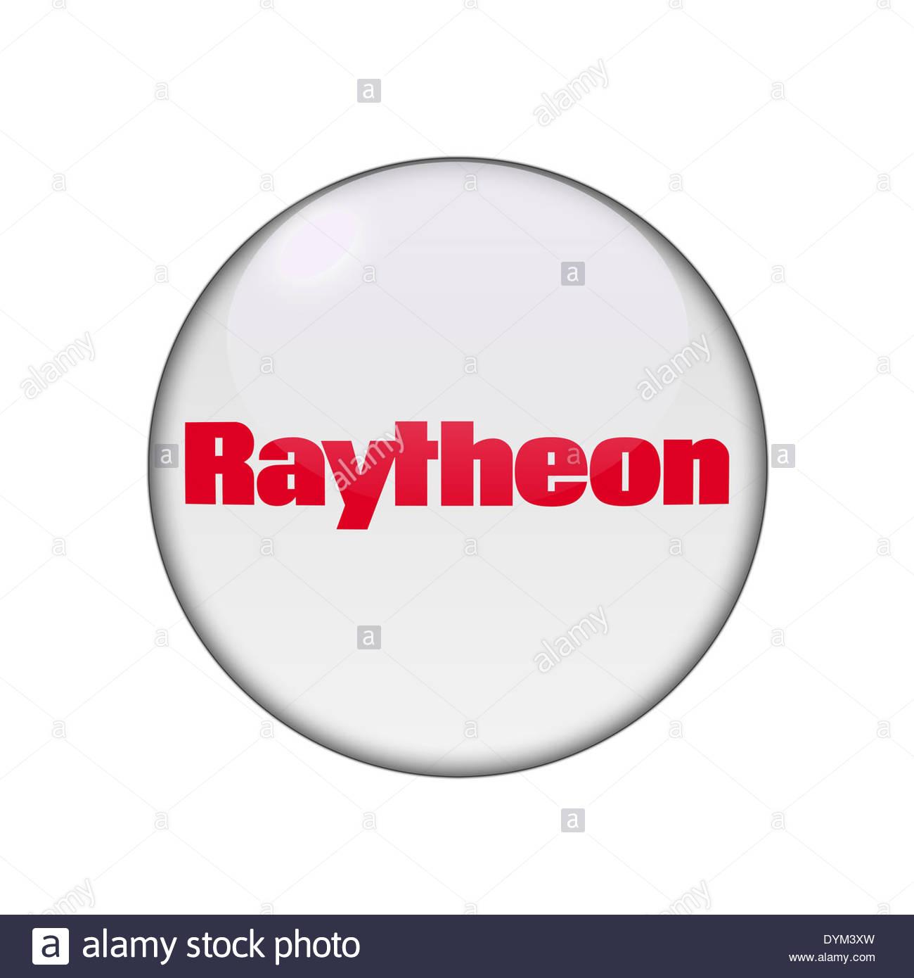 Raytheon icon logo - Stock Image