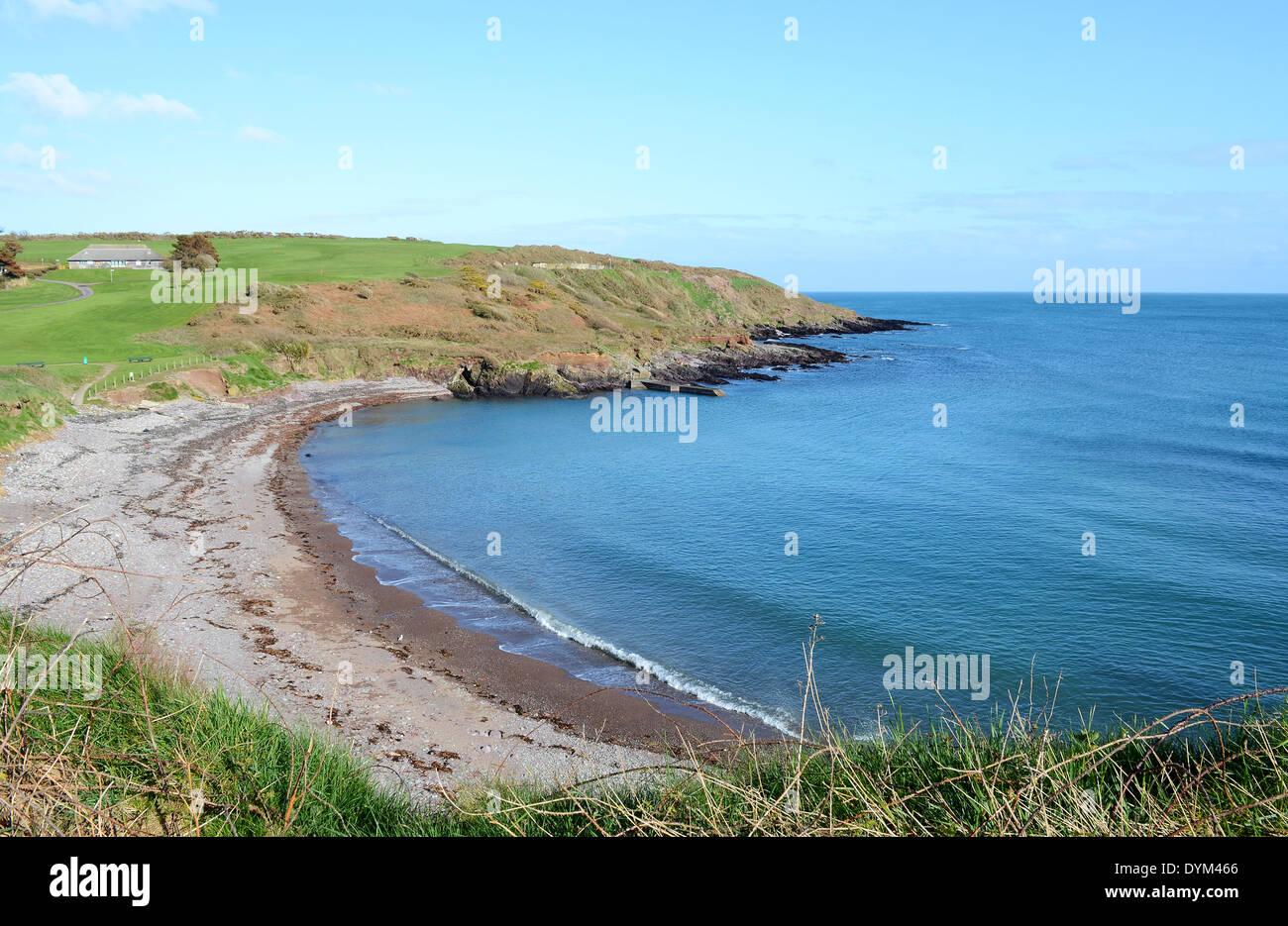 the beach near trabolgan on the south west coast of ireland, uk - Stock Image