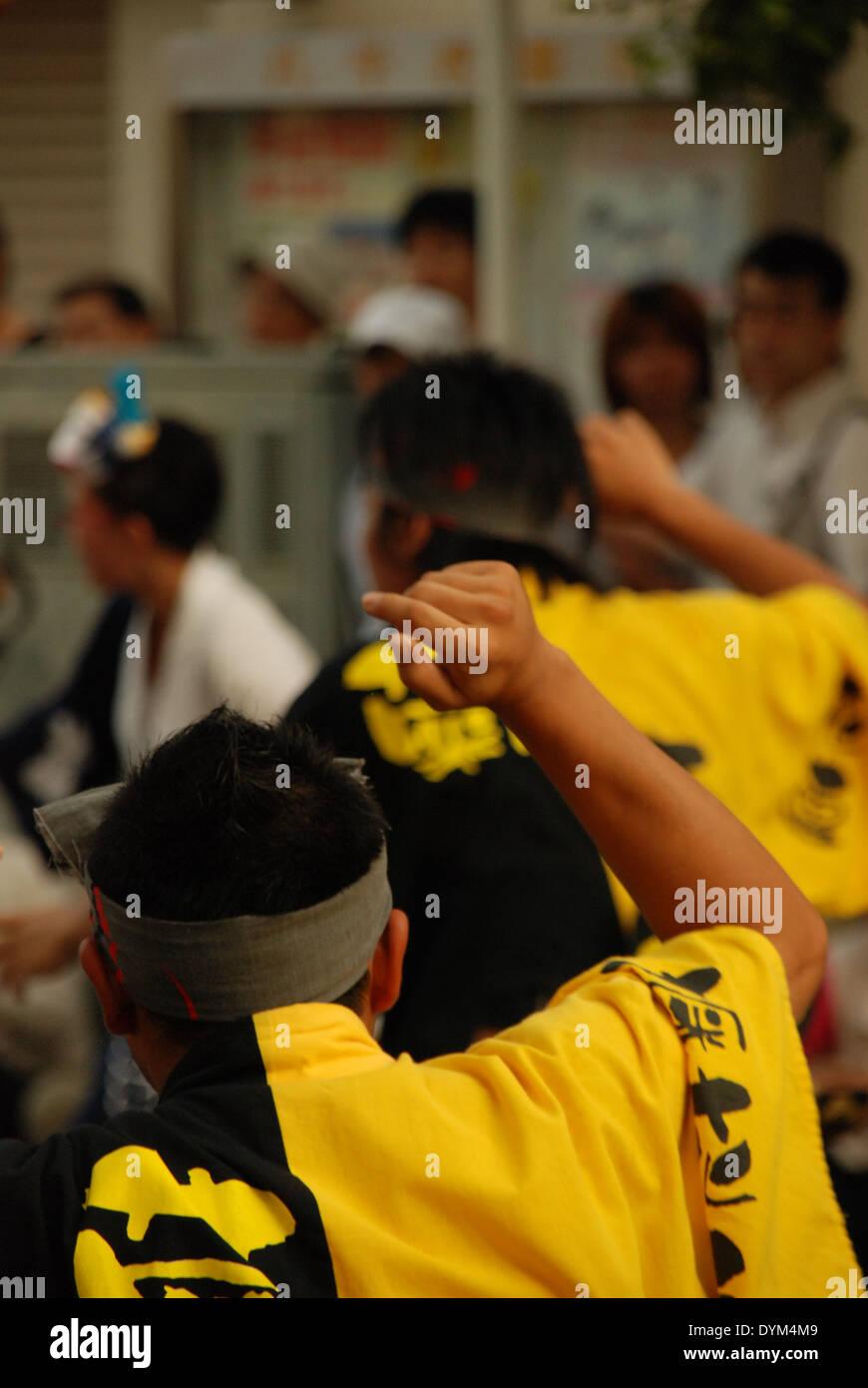 Dancers at Yamato matsuri festival, Kanagawa Prefecture, Japan - Stock Image