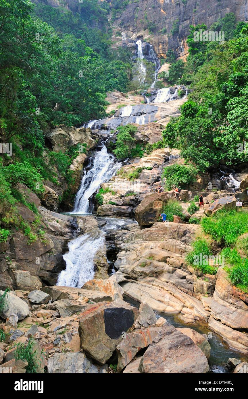 Ravana Falls or Ravana Ella, Ella, Uva, Sri Lanka - Stock Image