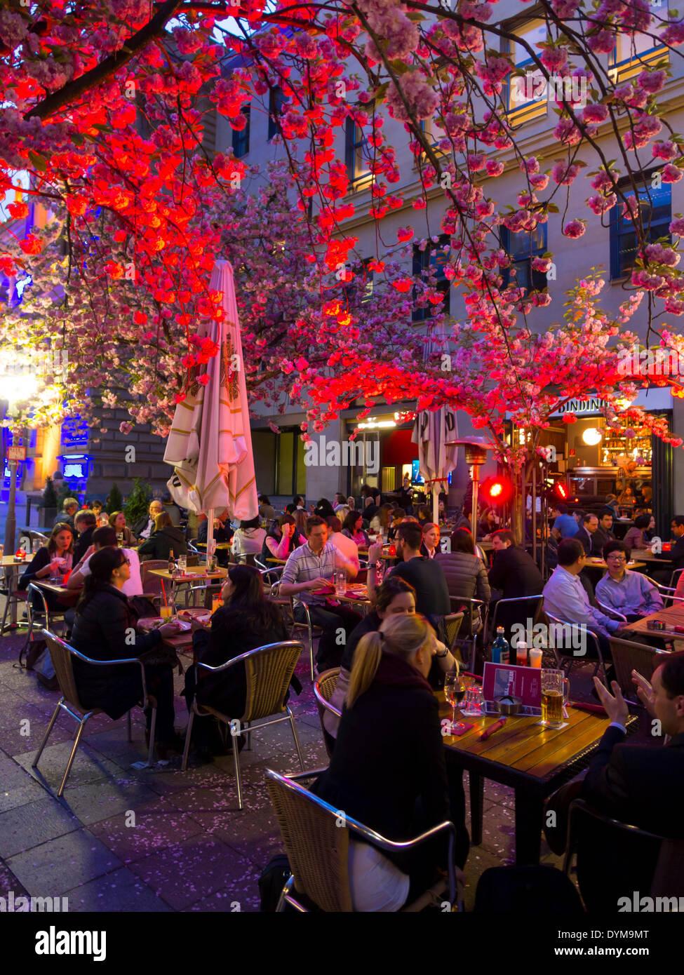 "Restaurant ""Bulle and Bär"", Luminale, Frankfurt am Main, Hesse, Germany Stock Photo"