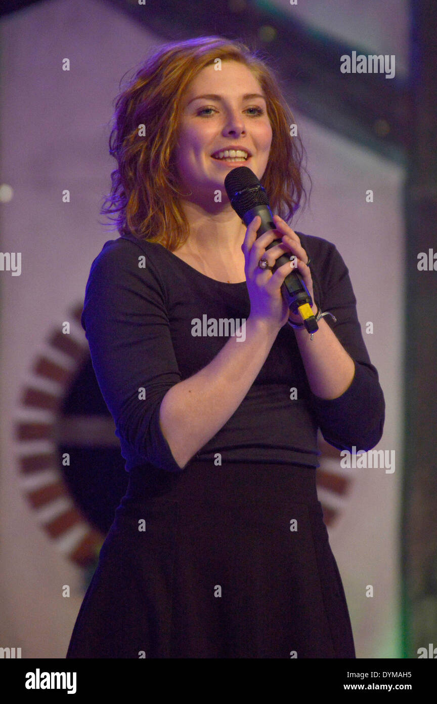 German actress Lilian Prent at the HobbitCon 2 convention at the Maritim Hotel in Bonn, Germany. On April 19, 2014/picture alliance - Stock Image