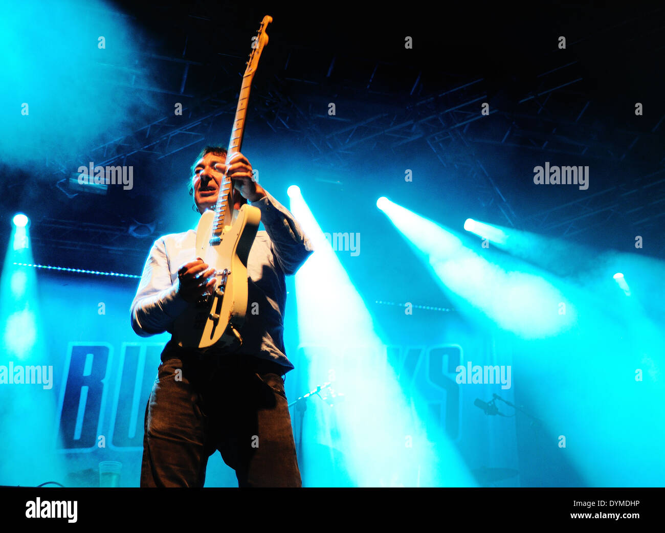 BENICASSIM, SPAIN - JULY 14: Buzzcocks (English punk rock band) performs at FIB on July 14, 2012 in Benicassim, Spain. Festival - Stock Image