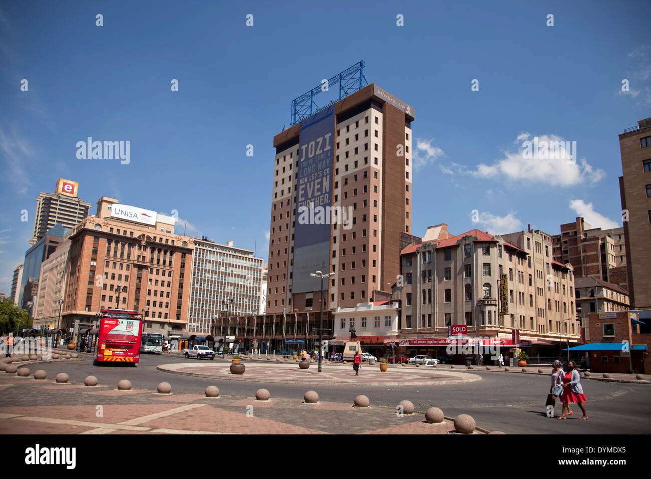 central Ghandi Square in Johannesburg, Gauteng, South Africa, Africa - Stock Image