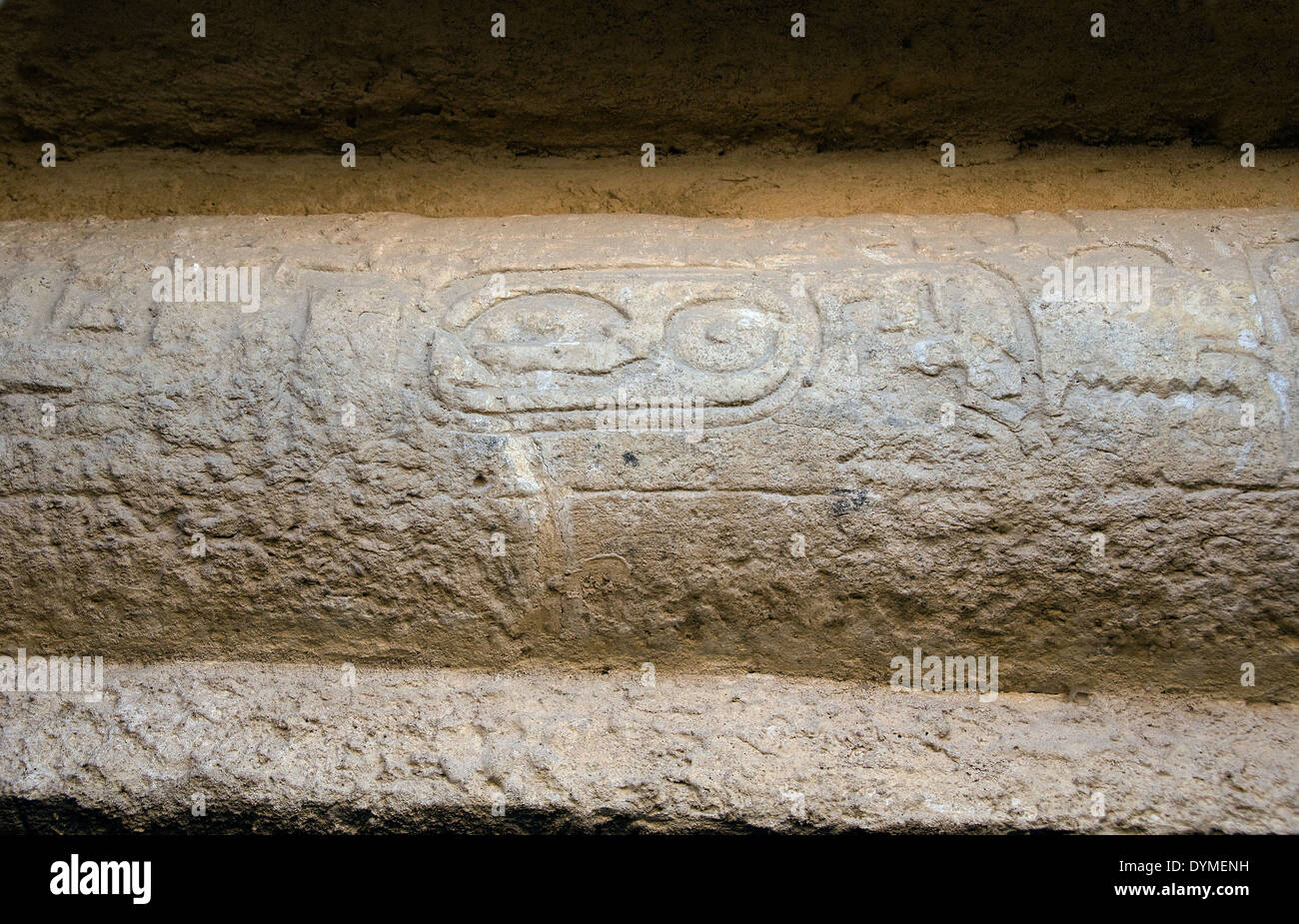 The cartouche of Ka-fra (Chefren) in a tomb near the your pyramid at El Giza Plateau, Cairo. - Stock Image