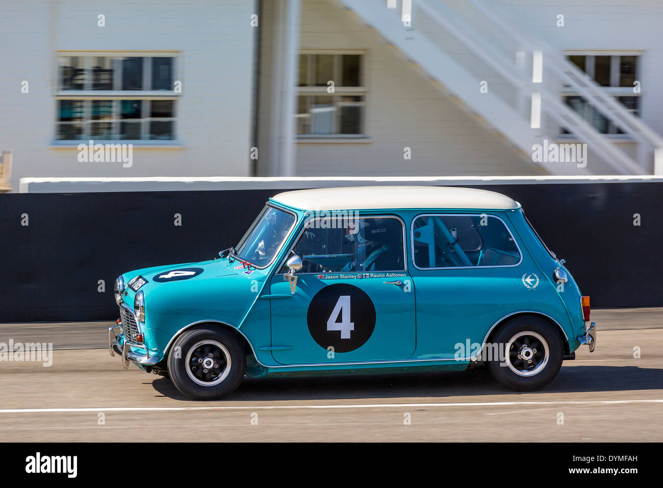 1964 Austin Mini Cooper S with driver Jason Stanley, Sears