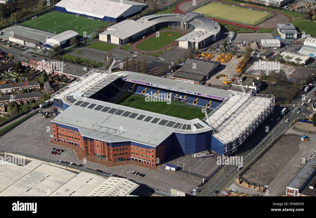 aerial view of West Bromwich Albion's Hawthorns football Stadium in Birmingham, ie West Brom's Ground - Stock Image
