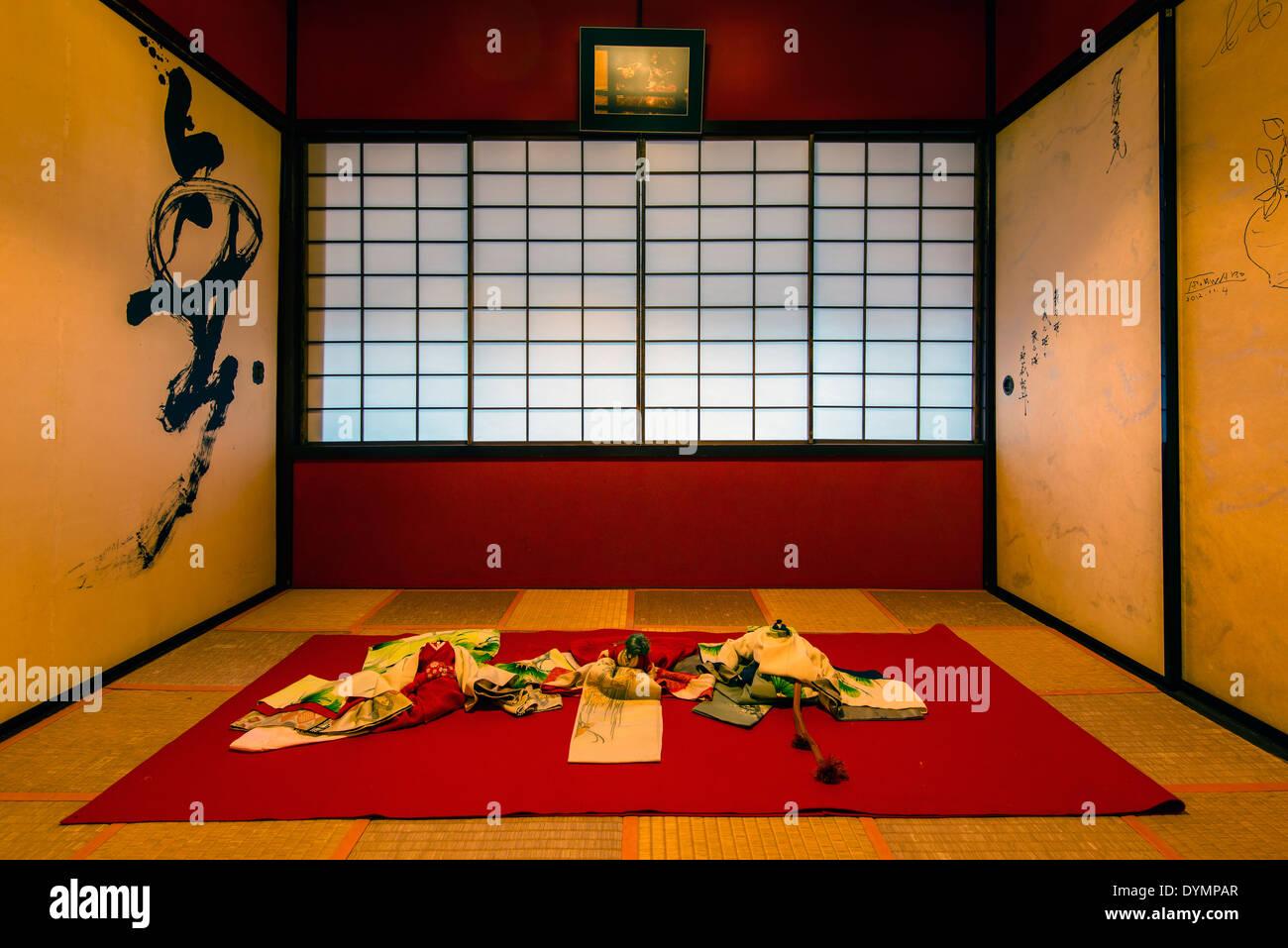 Kaikaro geisha house dated early 19th century located in the Higashi Chayagai district, Kanazawa, Ishikawa Prefecture, Japan - Stock Image