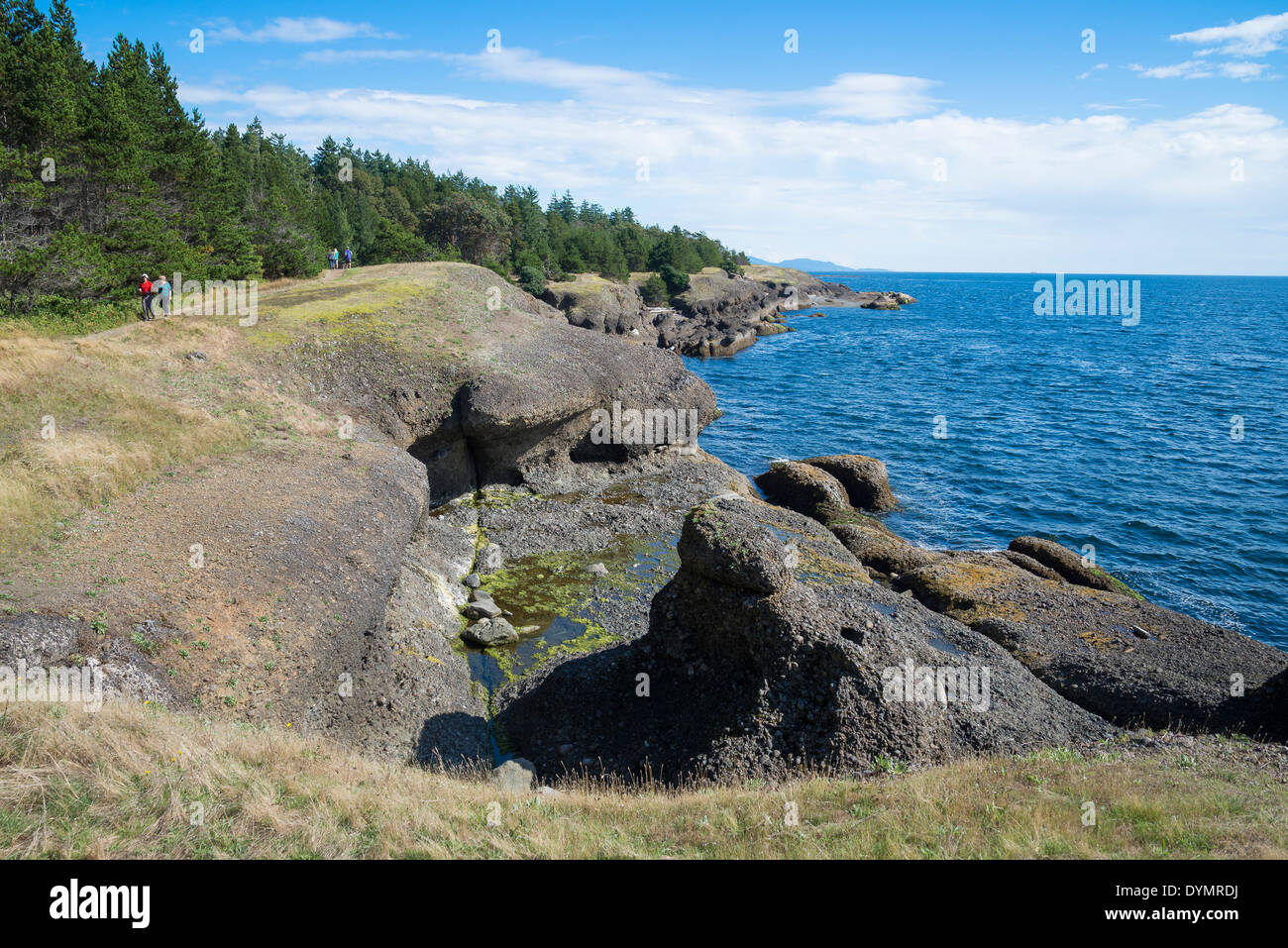 The bluffs, Helliwell Provincial Park, Hornby Island, British Columbia, Canada - Stock Image