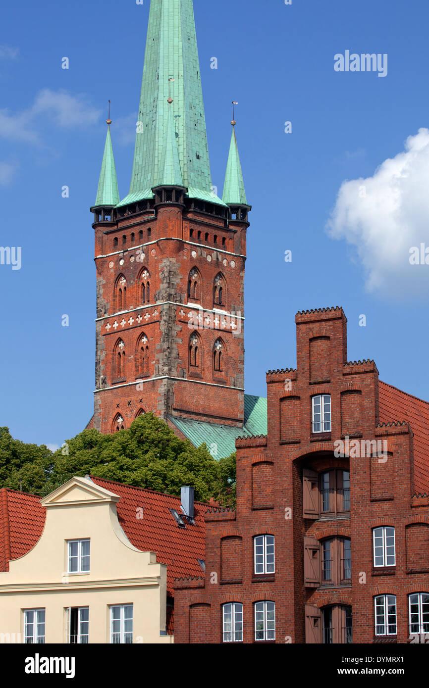 St. Petri Church / Petrikirche at Lübeck, Schleswig-Holstein, Germany - Stock Image