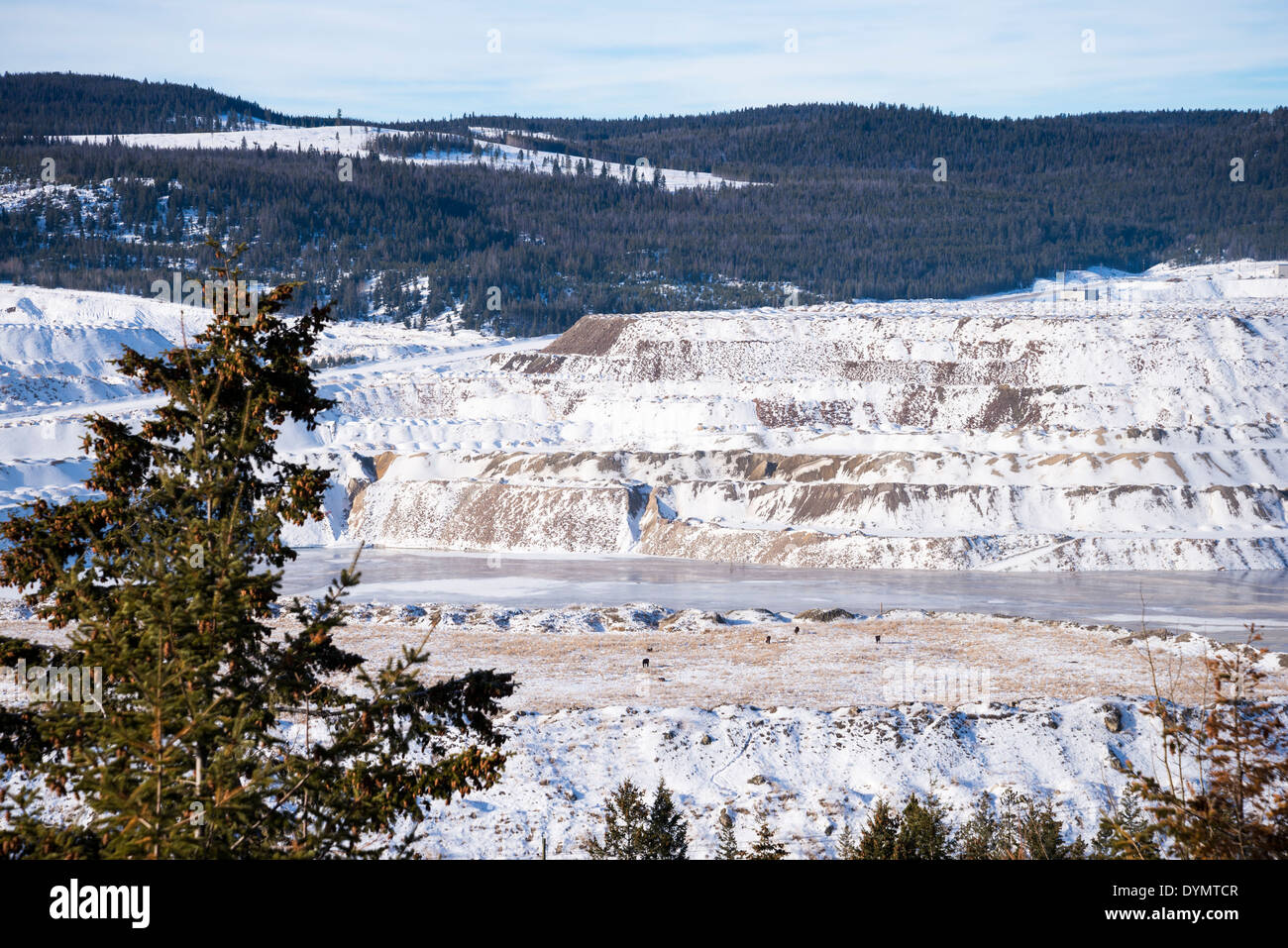 The Highland Valley Copper mine is the largest open pit copper mine