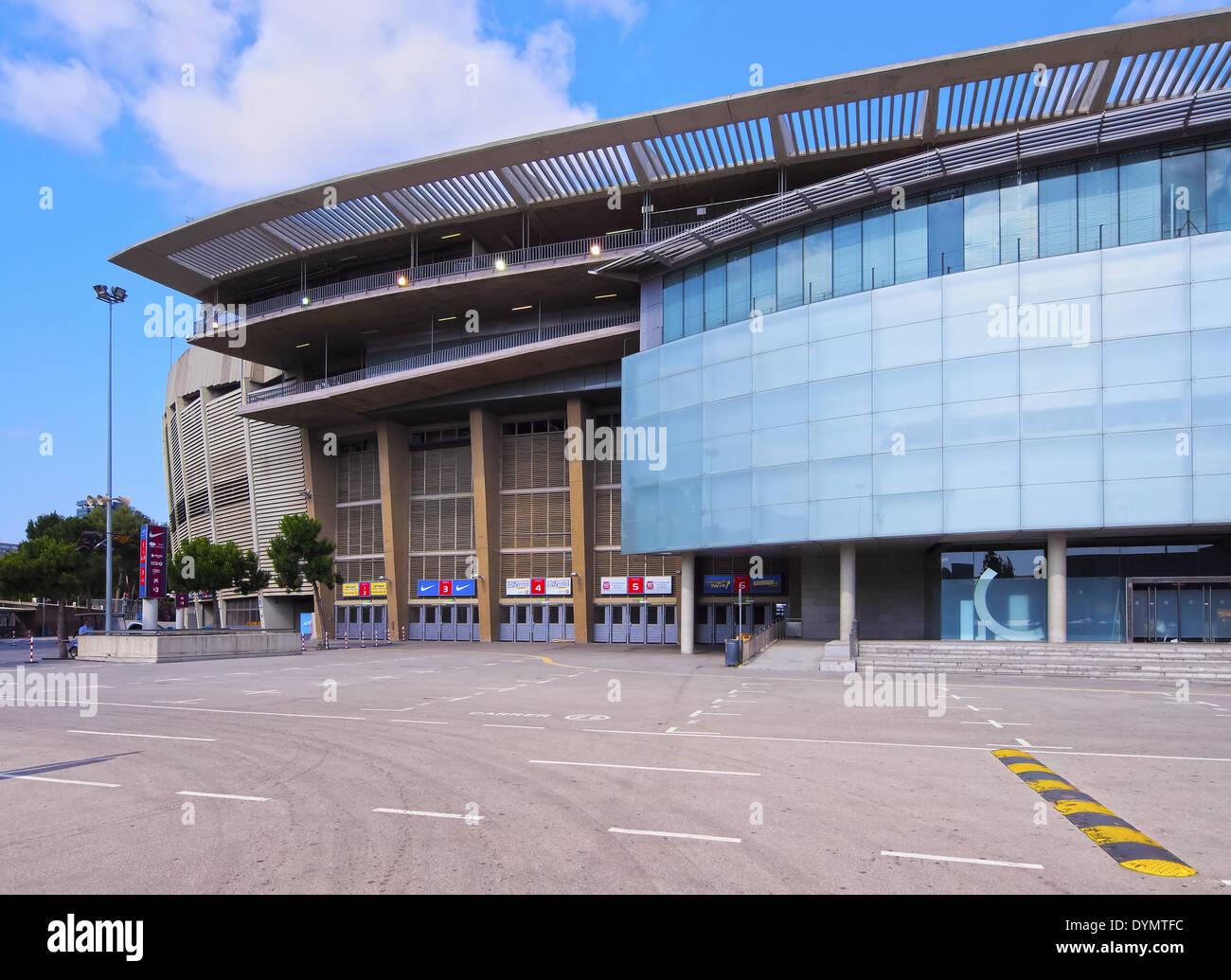 Estadi del F.C. Barcelona - Camp Nou - a football stadium in Barcelona, Catalonia, Spain - Stock Image