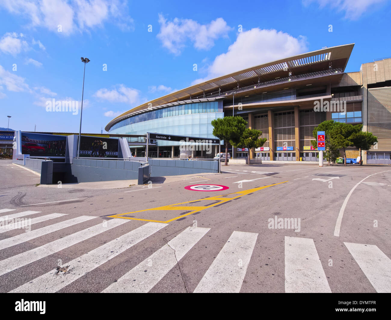 Estadi del F.C. Barcelona - Camp Nou - a football stadium in Barcelona, Catalonia, Spain Stock Photo
