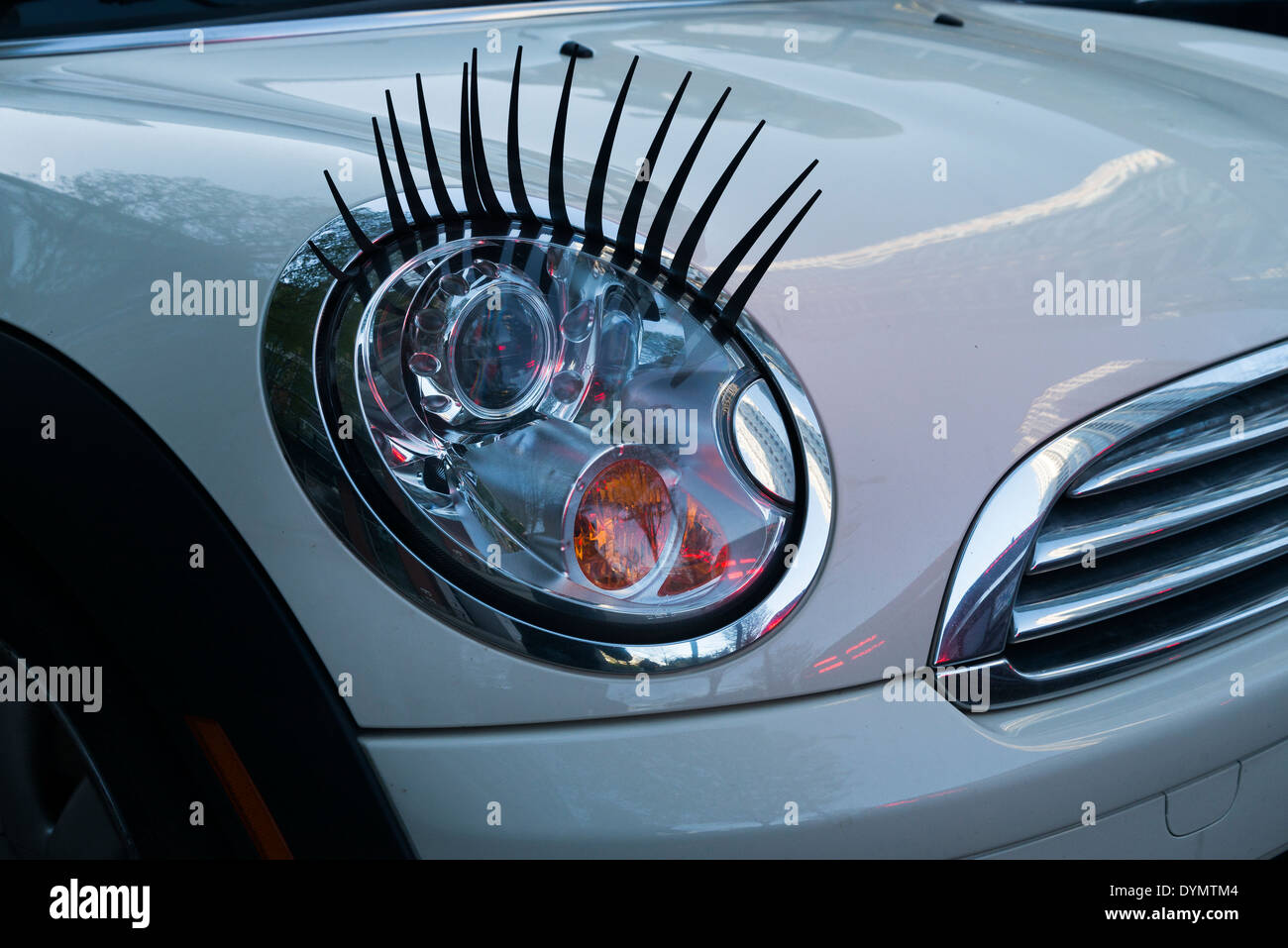 Car Headlights With Eye Lashes Stock Photo 68685236 Alamy