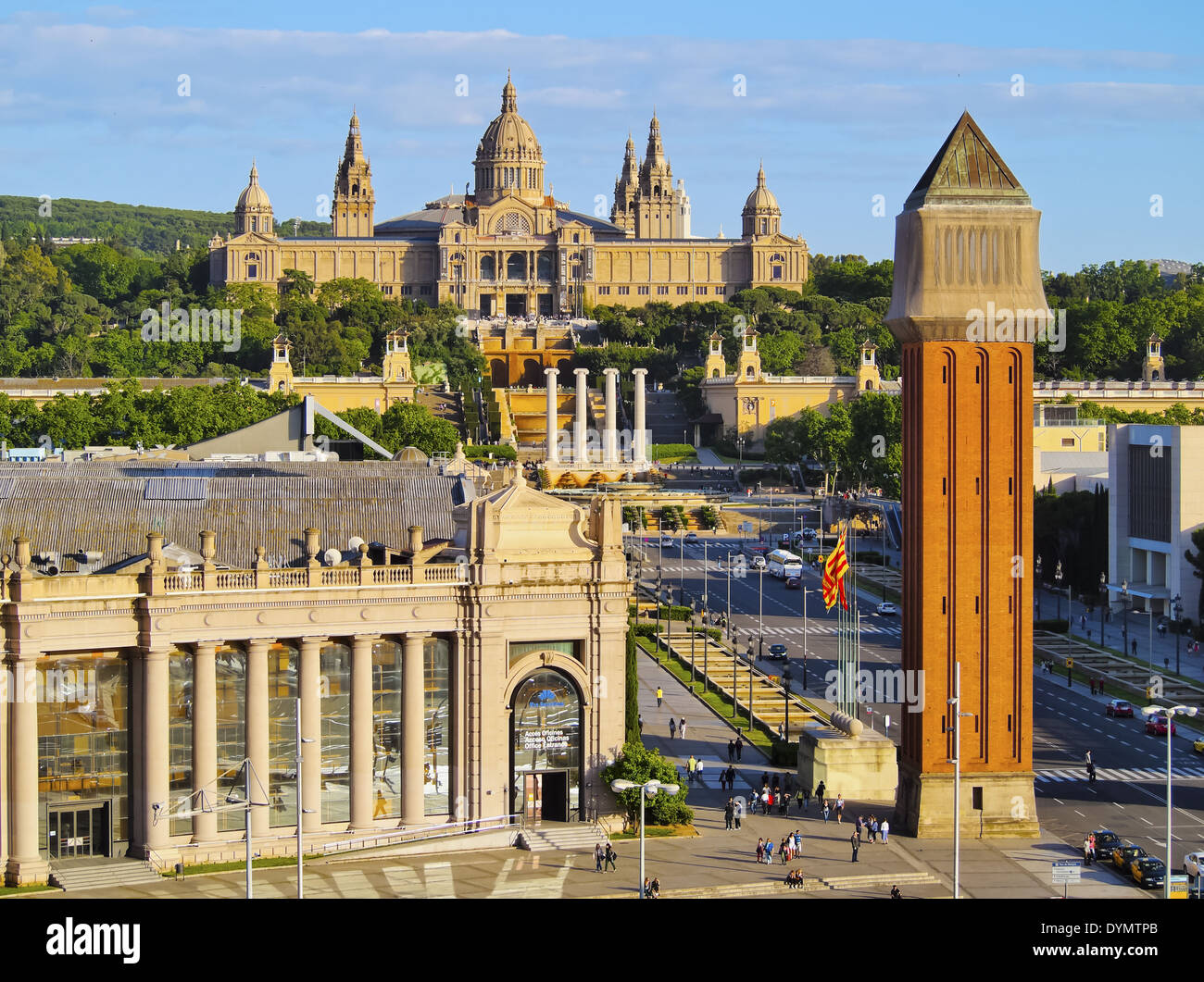 MNAC - National Museum of Art in Barcelona, Catalonia, Spain - Stock Image