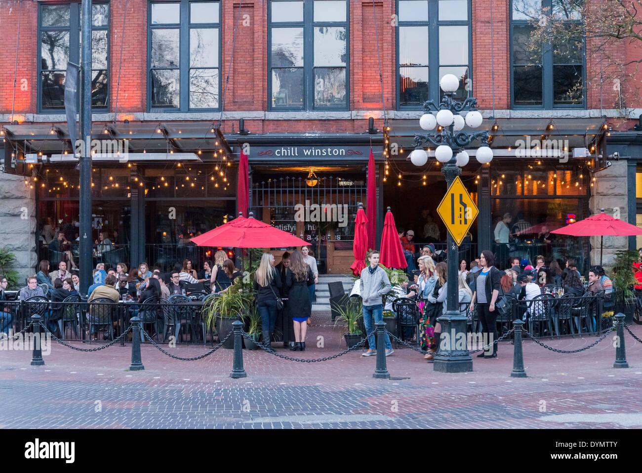 Chill Winston, Outdoor Patio, Gastown, Vancouver, British Columbia, Canada