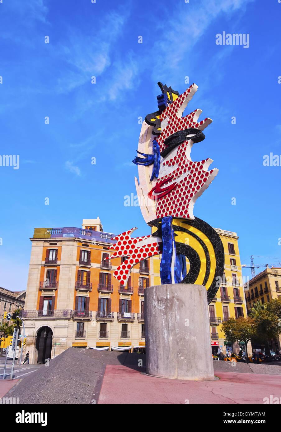d0cf5c7ac24 El Cap de Barcelona - a surrealist sculpture created by American Pop artist  Roy Lichtenstein for the 1992 Summer Olympics in