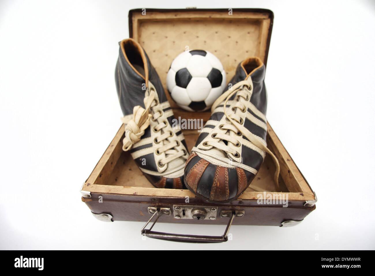 GER, Deutschland, 20140309 Alte Fußballschuhe - Stock Image