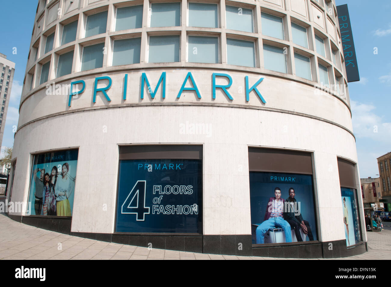 Massive towering Primark store with four floors of fashion in Bristol's Broadmead shopping centre - Stock Image