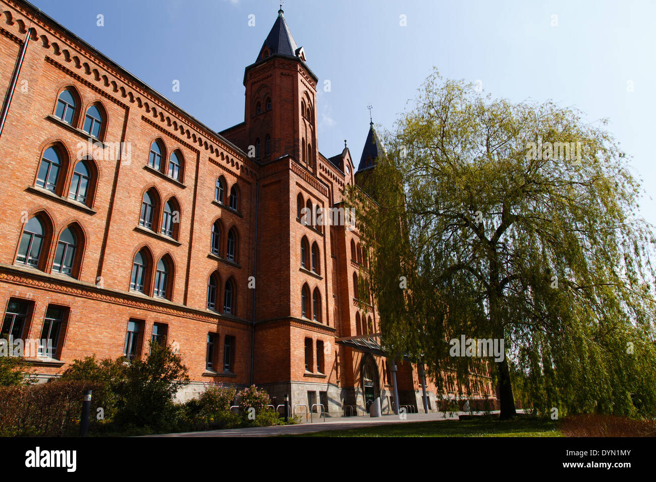 Photograpgh of the new city hall (Neues Rathaus) of Celle (Germany). - Stock Image
