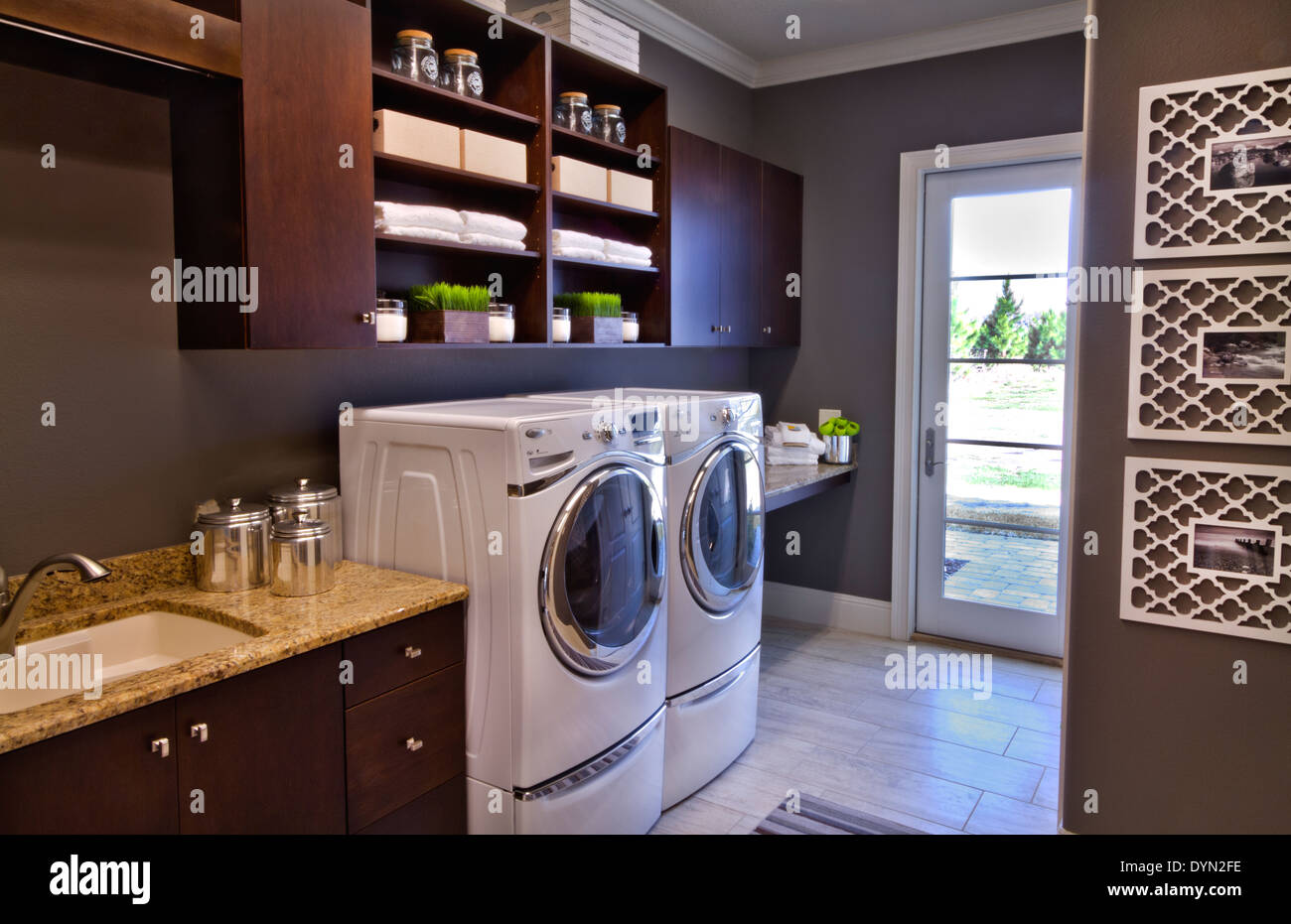 luxury laundry room interior luxury laundry room in expensive home windermere florida stock
