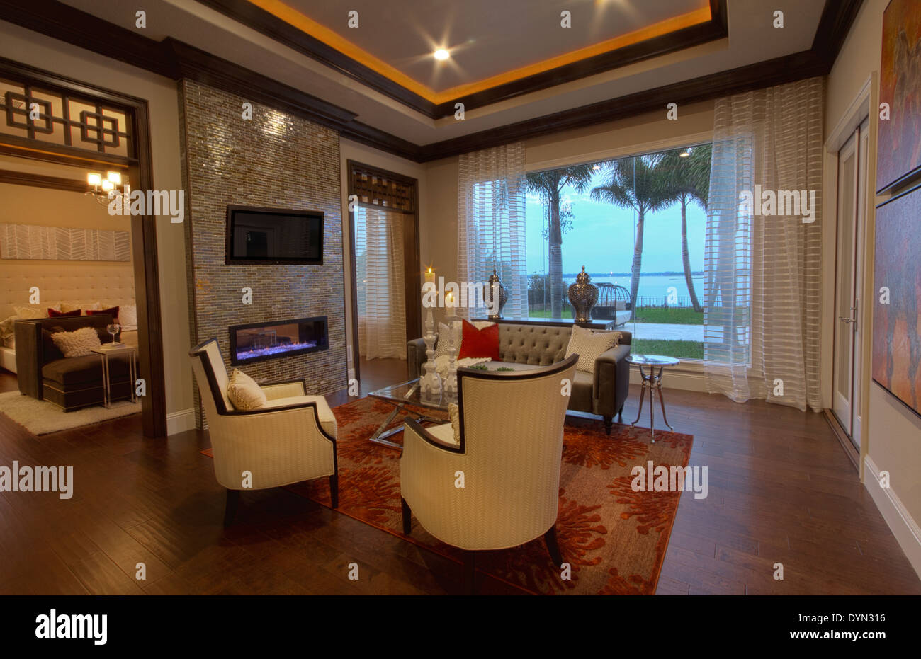 High Quality Sitting Room In Master Bedroom In Luxury Home In Windermere, Florida