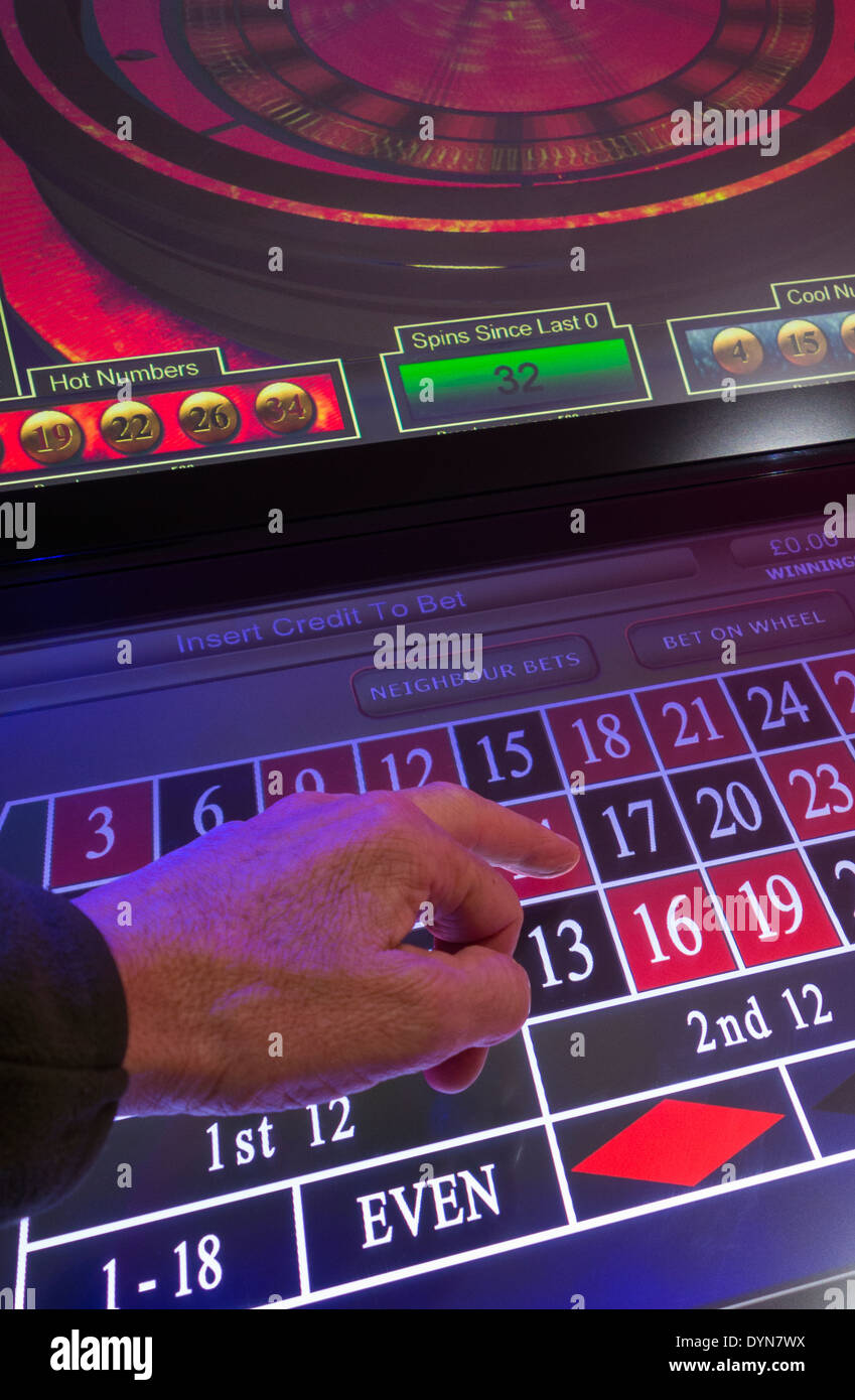 Fixed odds betting machine in bookmakers. UK - Stock Image