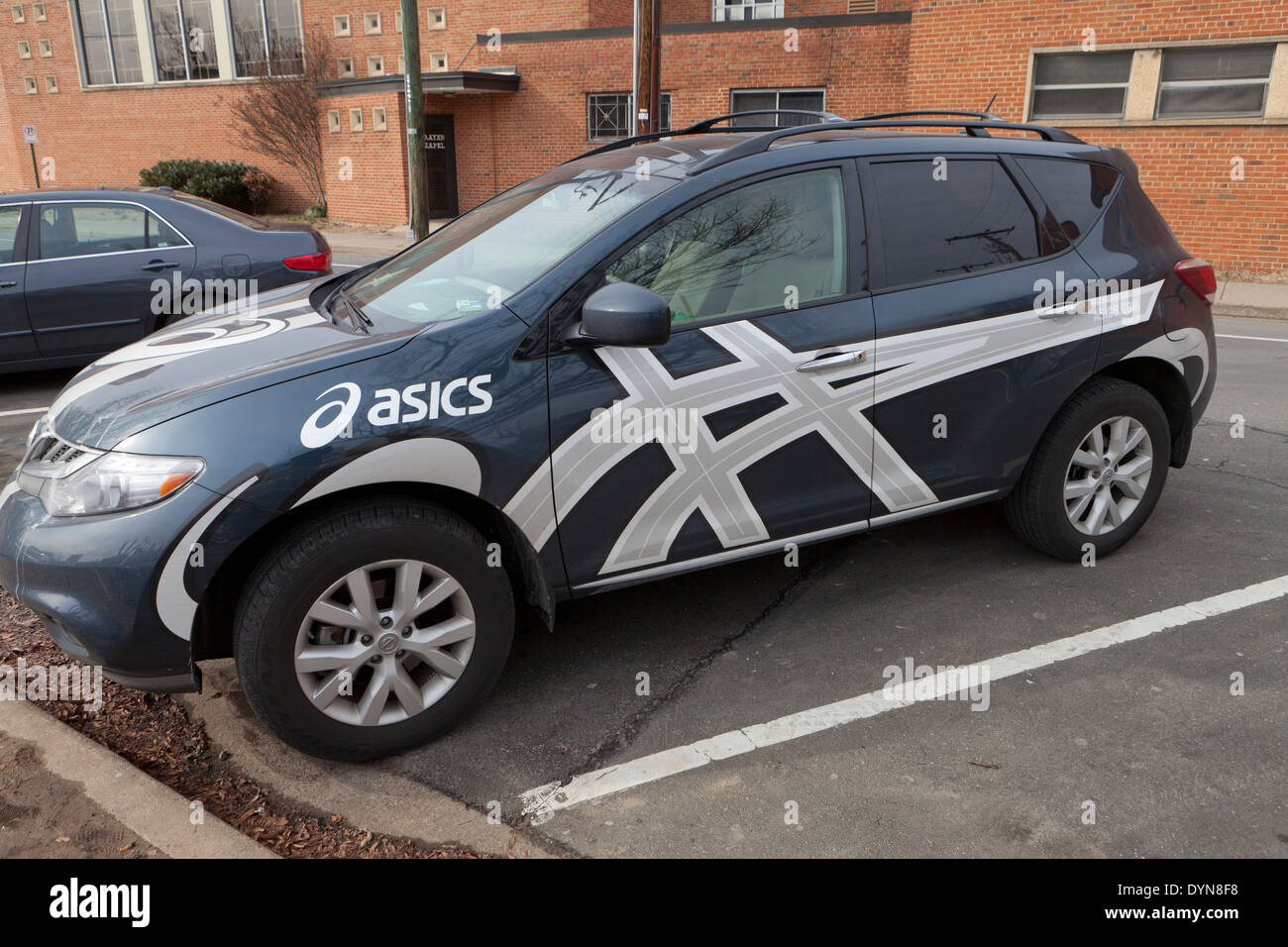 Asics promotion car - Stock Image