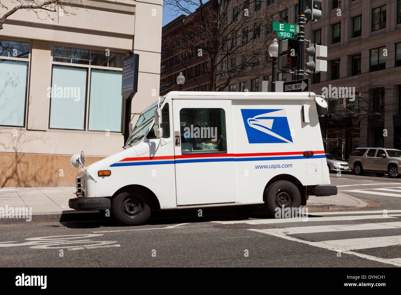 US Postal Service delivery truck - Washington, DC USA - Stock Image