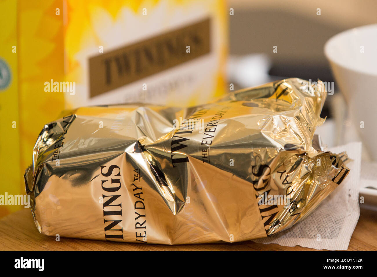 Twinings has been a major tea business since 1706. It is an international brand with more than 200 teas sold in over 100 countries throughout the world. - Stock Image