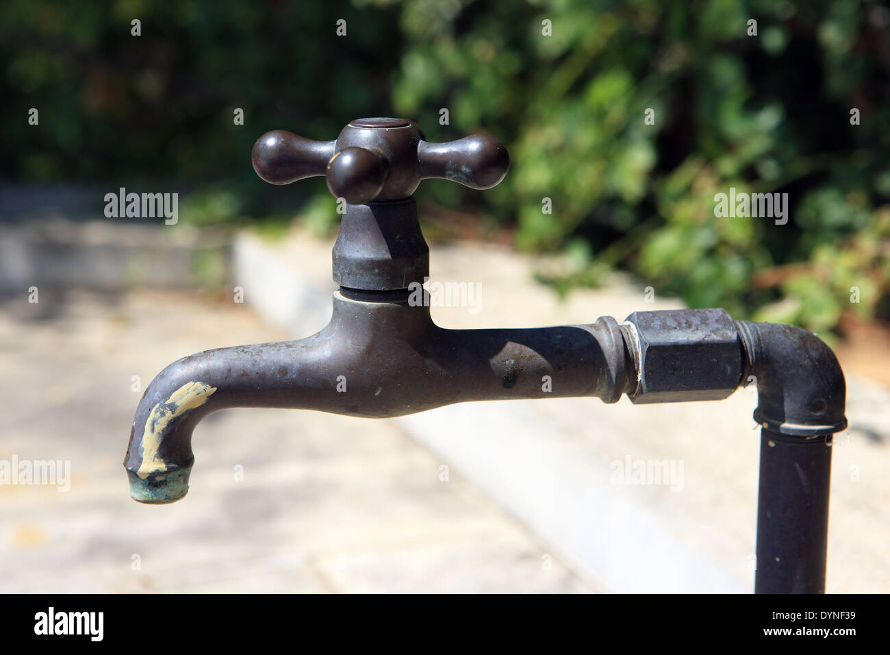 Outdoor tap - Stock Image