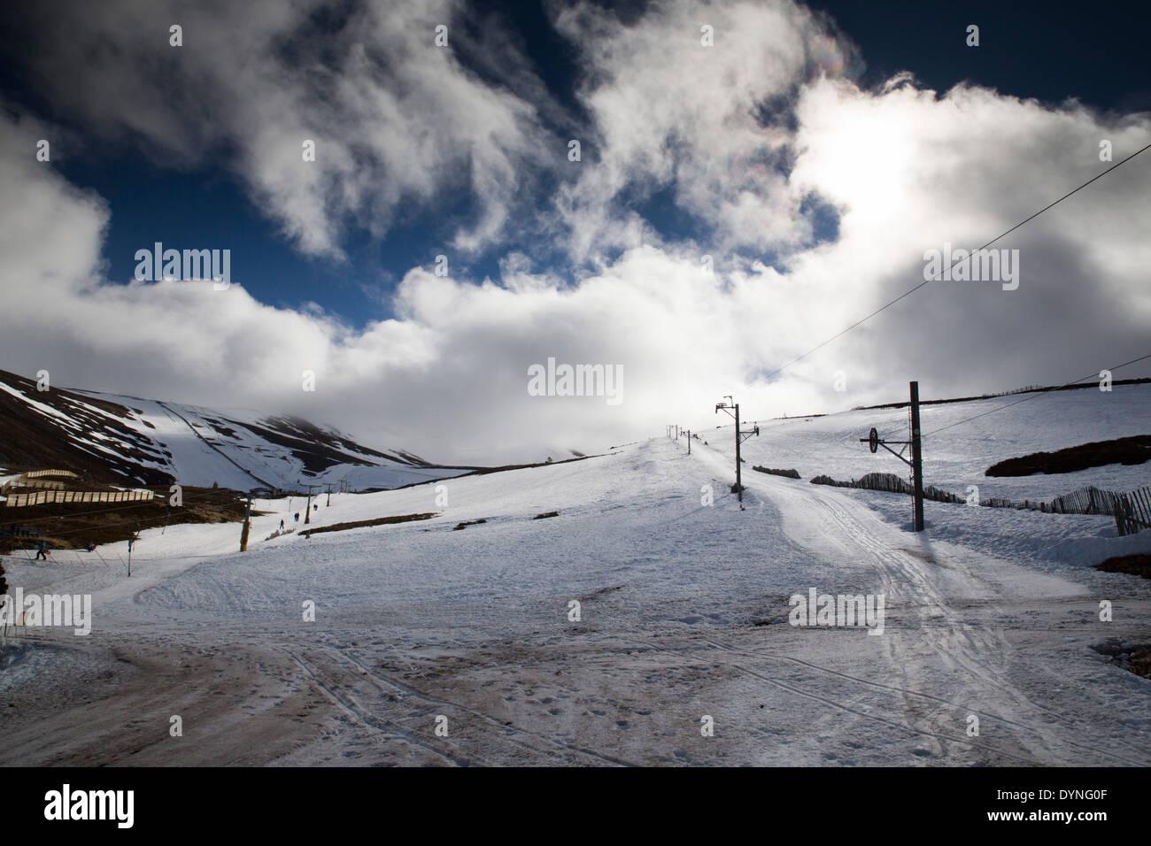 Cairngorm Mountain; near Ski Centre; Scotland; UK - Stock Image