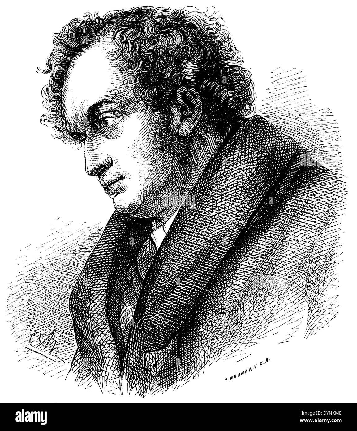 1816),Friedrich Wilhelm von Schadow (born September 6, 1789, died March 19, - Stock Image