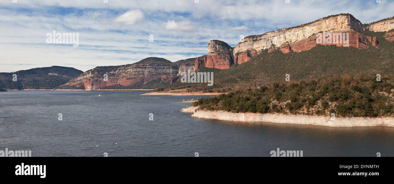 Sau Reservoir in the Barcelona province, Catalonia. - Stock Image