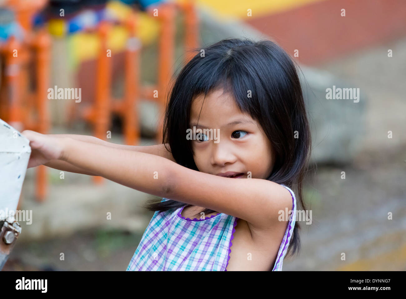 Child girl portrait philippines stock photos child girl portrait portrait of a little girl in puerto princesa palawan philippines stock image thecheapjerseys Image collections