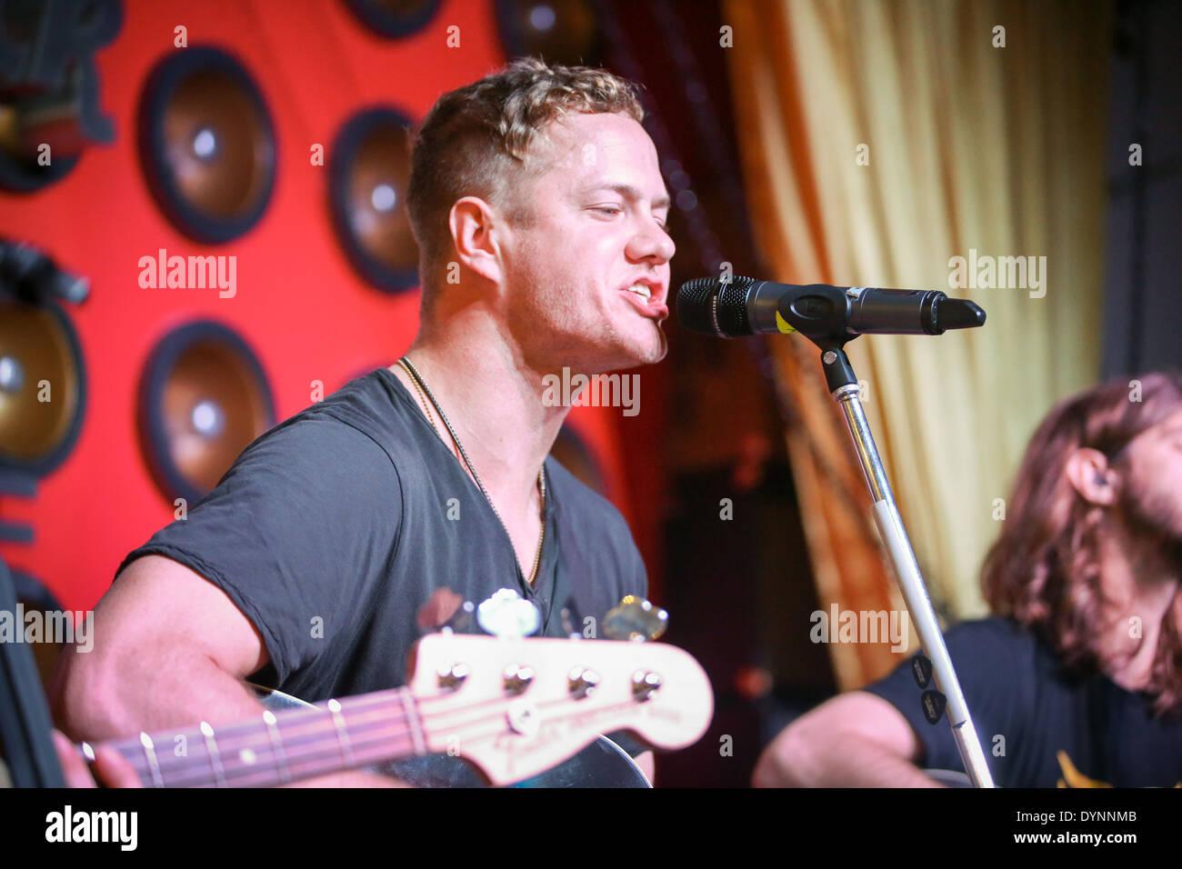 Hard Rock Cafe Baltimore Reopening Imagine Dragons - Stock Image