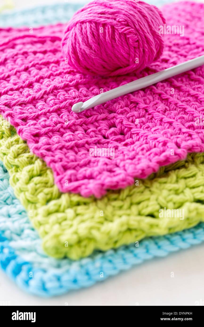Crochet Hook And A Ball Of Wool Stock Photos Crochet Hook And A