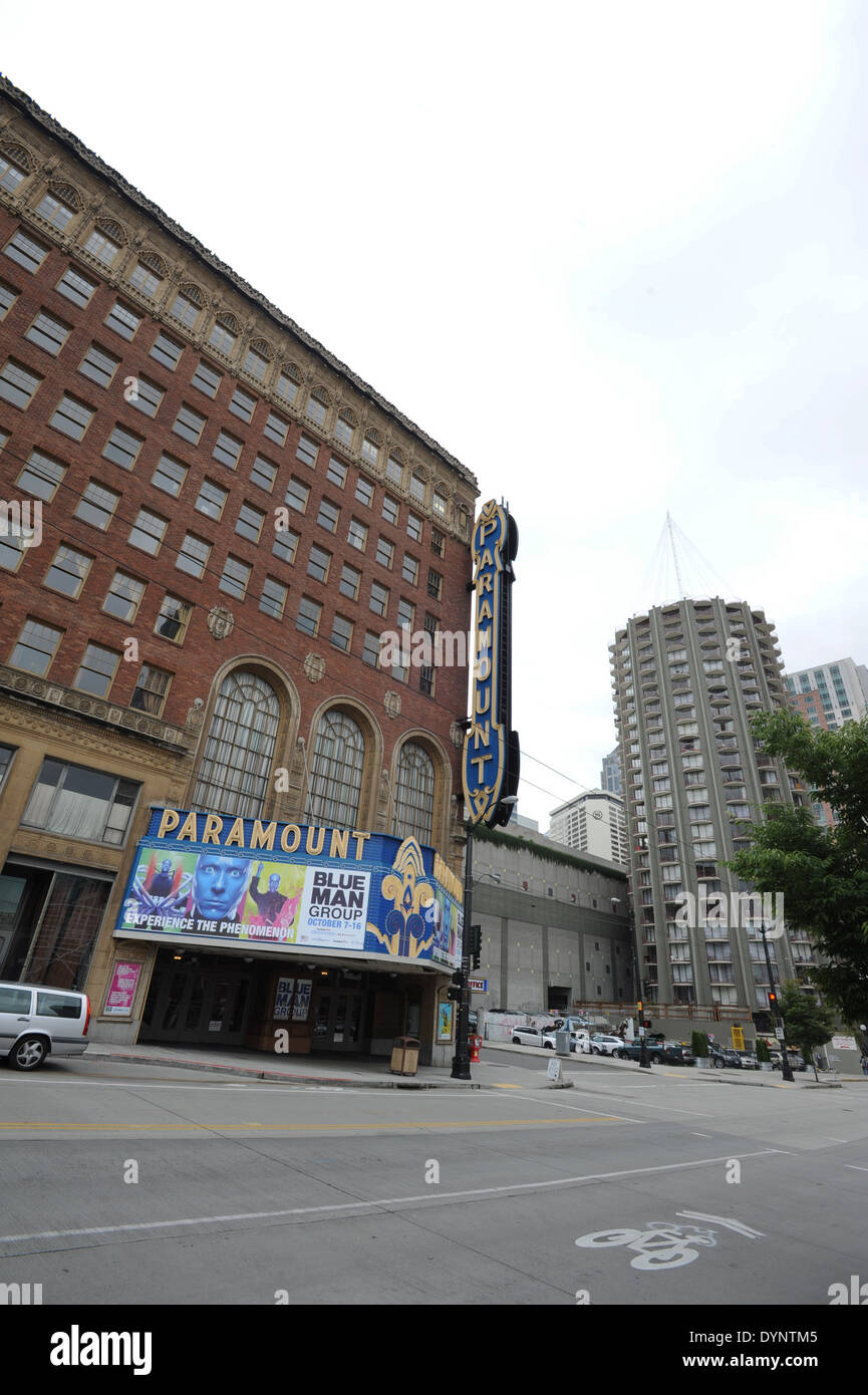 Paramount Theater in Seatlle, Wa, USA. - Stock Image